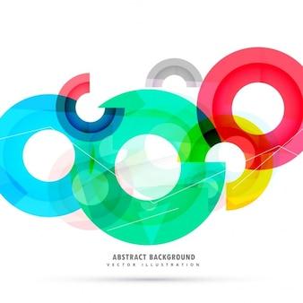 Fondo poligonal con círculos
