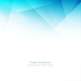 Fondo poligonal de color azul claro