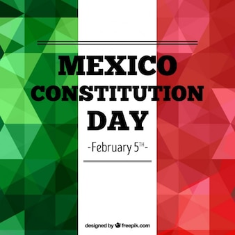 Fondo poligonal del día de la constitución de méxico