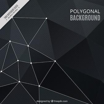 Fondo poligonal en tonos negros