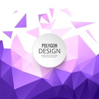 Fondo poligonal púrpura y rosa