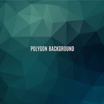 Fondo poligonal verde oscuro