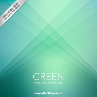 Fondo poligonal verde