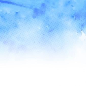 Fondo punteado con acuarelas azules