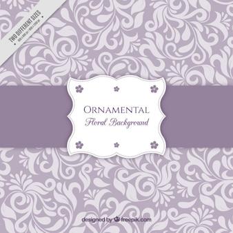 Fondo púrpura con ornamentos florales