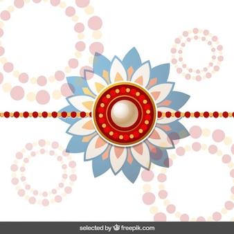 Fondo Rakhi con círculos de puntos