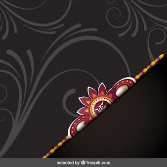 Fondo Rakhi marrón ornamental