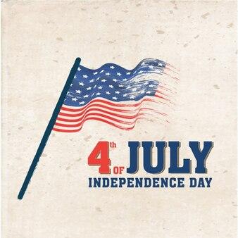 Fondo retro con bandera para el día de la independencia