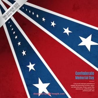 Fondo retro de memorial del día de los confederados