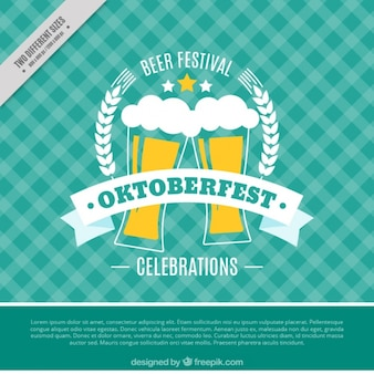 Fondo retro de oktoberfest con cervezas