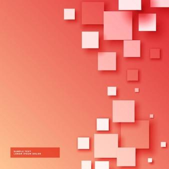 Fondo rojo con cuadrados