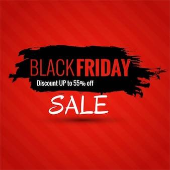Fondo rojo con tinta negra para el viernes negro