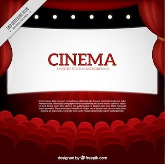 fondo rojo de cine