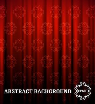 Fondo rojo de la cortina ornamentales
