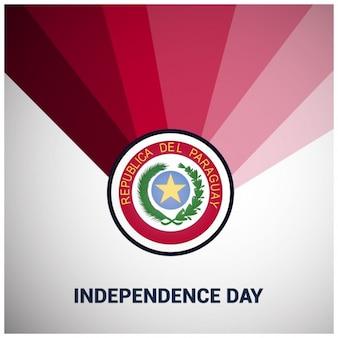 Fondo rojo del día de la independencia de paraguay