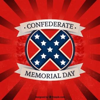 Fondo rojo del día de los héroes confederados