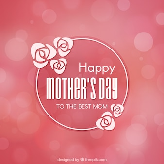 Fondo rosa con efecto borroso para el día de la madre