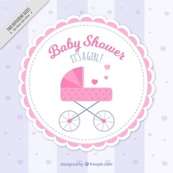 Fondo rosa de baby shower