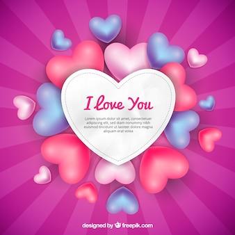 Fondo rosa de corazones