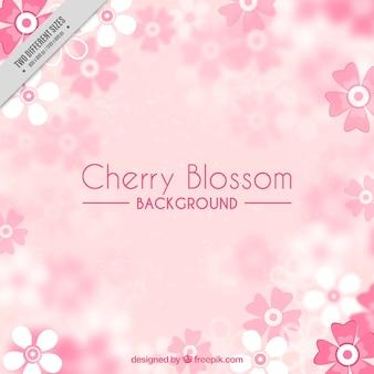 Fondo rosa de flores de cerezo