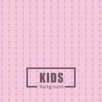 Fondo rosado con patrones para niños