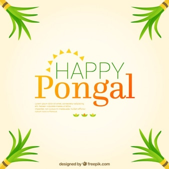 Fondo simple de feliz Pongal