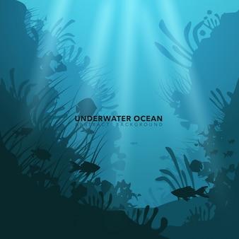 Fondo subacuático del océano