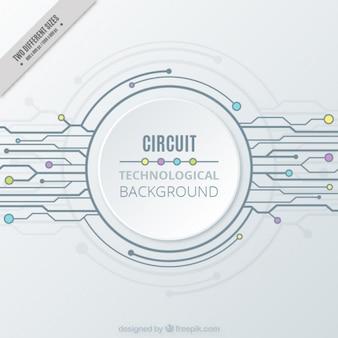 Fondo tecnológico blanco con un circuito