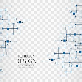 Fondo tecnológico con enlaces azules