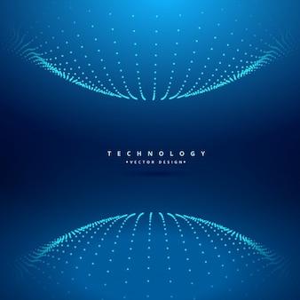 Fondo tecnológico con esfera de puntos