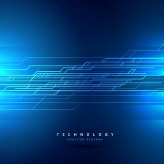 Fondo tecnológico con líneas