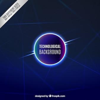 Fondo tecnológico de círculo iluminado