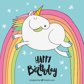 Fondo unicornio de cumpleaños