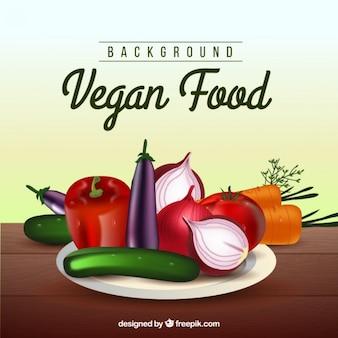 Fondo vegano de comida saludable