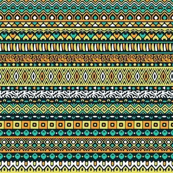 Fondo verde con patrón tribal