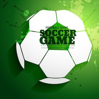fondo verde con una pelota de fútbol