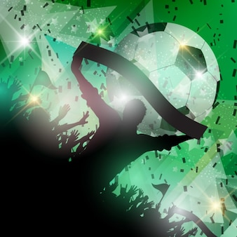 Fondo verde de aficionados al fútbol
