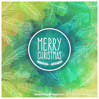 Fondo verde de la Feliz Navidad