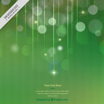 Fondo verde de luces