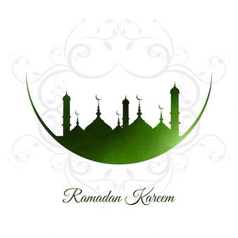 Fondo verde de ramadán