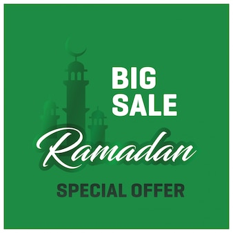 Fondo verde de rebajas ramadán