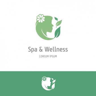 Fondo verde de spa y bienestar
