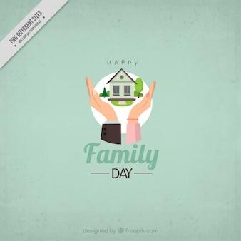 Fondo verde del Día de la Familia