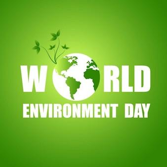 Fondo verde del día mundial del medio ambiente