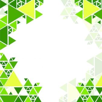 Fondo verde geométrico moderno