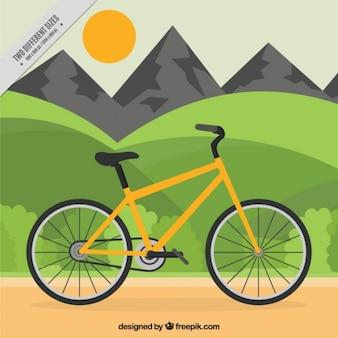 Fondo viajando con una bicicleta