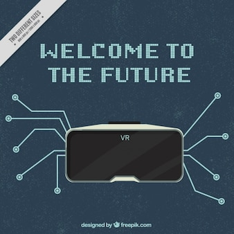 Fondo vintage con gafas virtuales