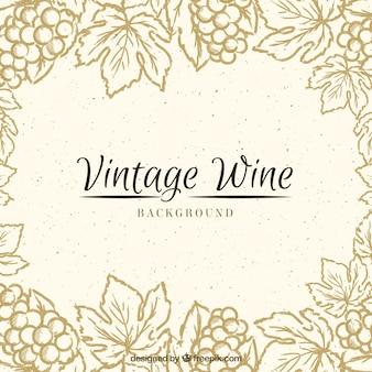 Fondo vintage con un marco floral