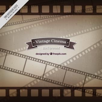 Fondo vintage de fotogramas de cine