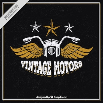 Fondo vintage de moto con alas
